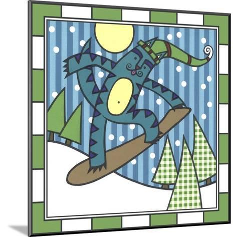 Max Cat Snowboard 1-Denny Driver-Mounted Giclee Print