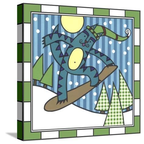 Max Cat Snowboard 1-Denny Driver-Stretched Canvas Print