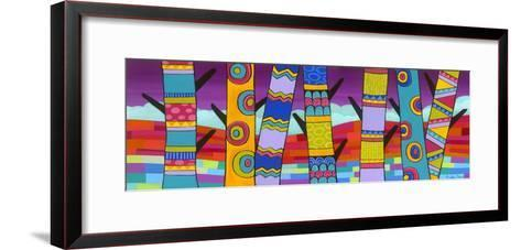 Vibrant Trees-Carla Bank-Framed Art Print