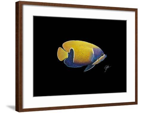 Blue Girdled Angel-Durwood Coffey-Framed Art Print