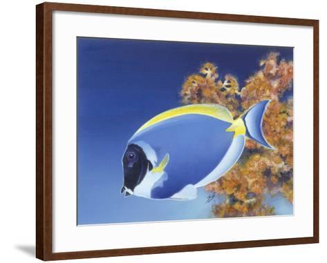 Powder Blue Tang-Durwood Coffey-Framed Art Print