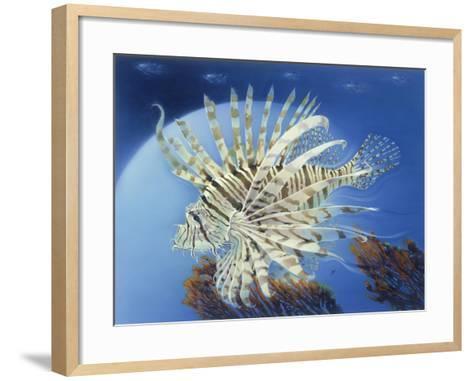 Lion Fish-Durwood Coffey-Framed Art Print