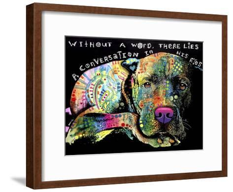 Without a Word-Dean Russo-Framed Art Print
