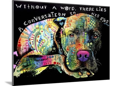 Without a Word-Dean Russo-Mounted Giclee Print