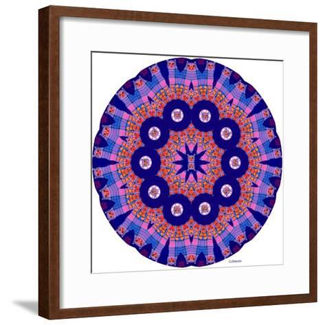 Cat Mandala X-David Sheskin-Framed Art Print