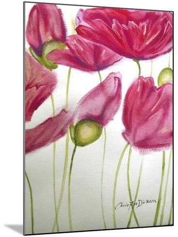 Pink Poppies-Cherie Roe Dirksen-Mounted Giclee Print