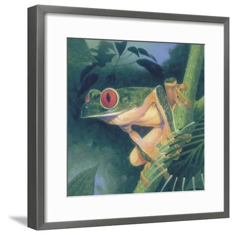 Tree Frog-Durwood Coffey-Framed Art Print