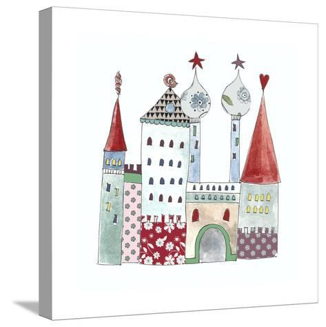 Little Mermaids Palace-Effie Zafiropoulou-Stretched Canvas Print