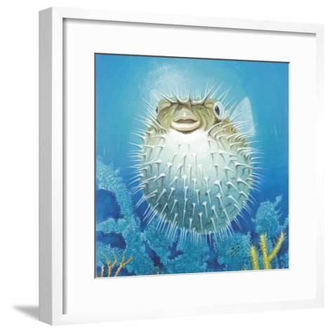 Puffer Fish-Durwood Coffey-Framed Art Print
