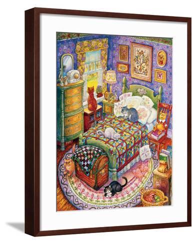 More Bedroom Cats-Bill Bell-Framed Art Print