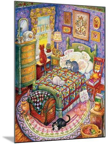 More Bedroom Cats-Bill Bell-Mounted Giclee Print