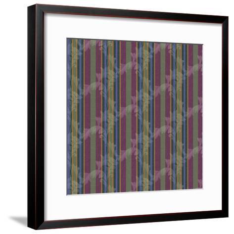 Scroll Stripe Plum-Bill Jackson-Framed Art Print