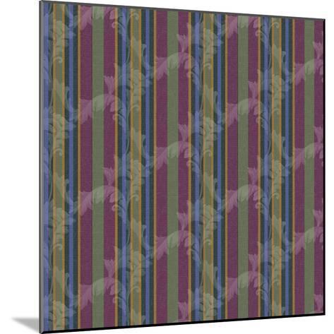 Scroll Stripe Plum-Bill Jackson-Mounted Giclee Print