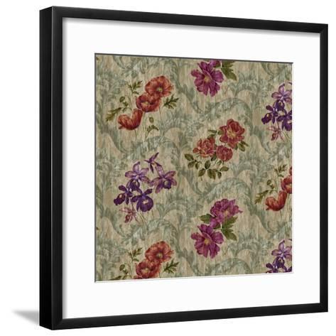 Scroll Velvet Striae Moss-Bill Jackson-Framed Art Print