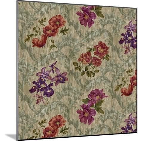 Scroll Velvet Striae Moss-Bill Jackson-Mounted Giclee Print