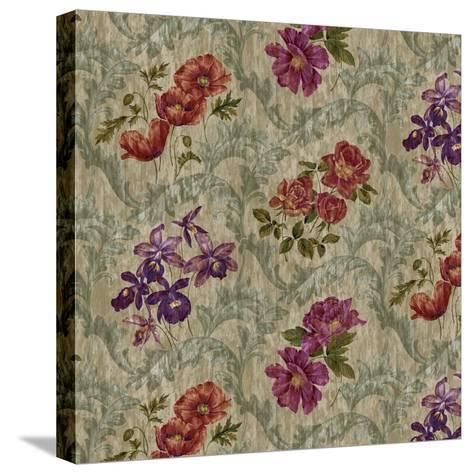 Scroll Velvet Striae Moss-Bill Jackson-Stretched Canvas Print