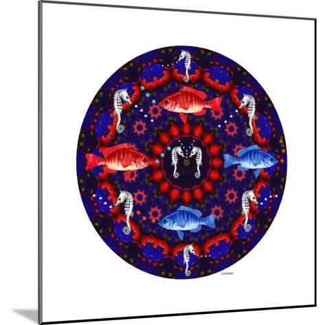 Fish Mandalas 53-David Sheskin-Mounted Giclee Print