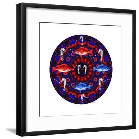 Fish Mandalas 53-David Sheskin-Framed Art Print