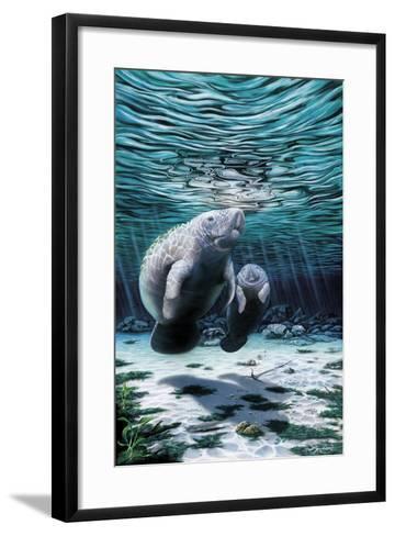 Mermaids of Crystal River-Dann Spider-Framed Art Print