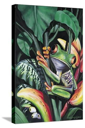 Rainforest Prince-Dann Spider-Stretched Canvas Print