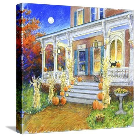 Halloween Porch-Edgar Jerins-Stretched Canvas Print