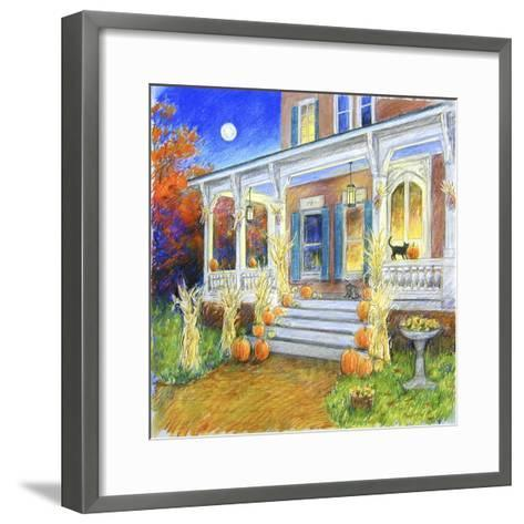 Halloween Porch-Edgar Jerins-Framed Art Print