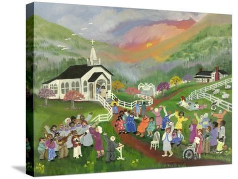 Sunrise Service-Carol Salas-Stretched Canvas Print