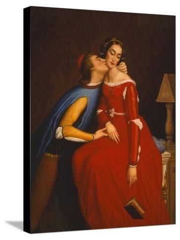 The Kiss-Edgar Jerins-Stretched Canvas Print