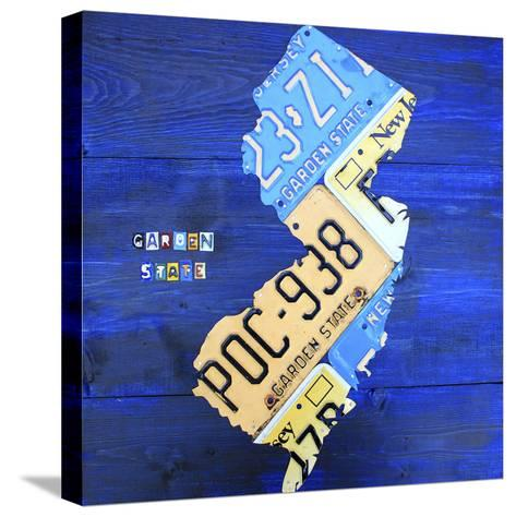 New Jersey-Design Turnpike-Stretched Canvas Print
