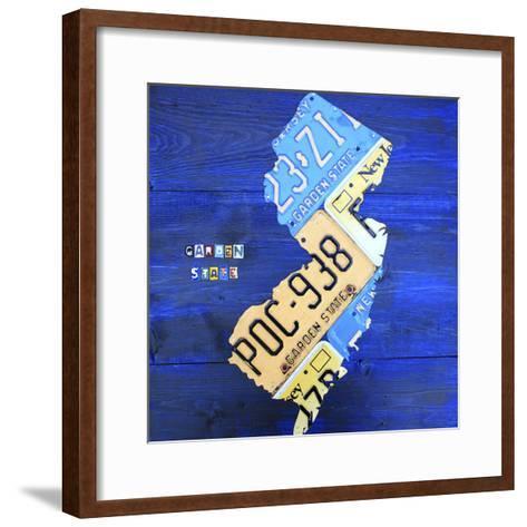 New Jersey-Design Turnpike-Framed Art Print