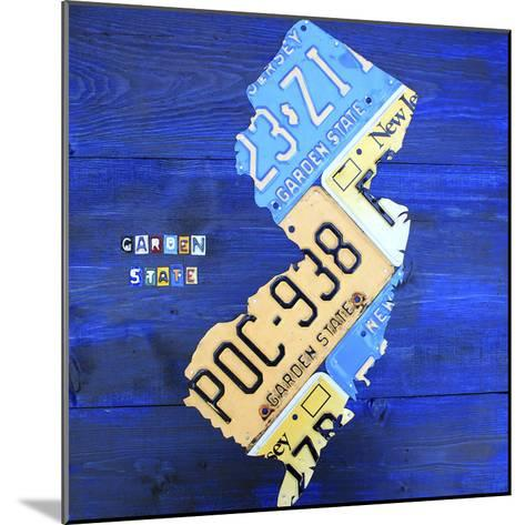 New Jersey-Design Turnpike-Mounted Giclee Print