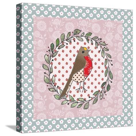 Xmas Robin-Effie Zafiropoulou-Stretched Canvas Print