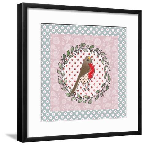 Xmas Robin-Effie Zafiropoulou-Framed Art Print