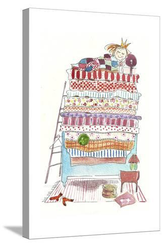 Princess Pea-Effie Zafiropoulou-Stretched Canvas Print