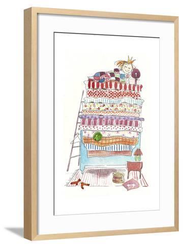 Princess Pea-Effie Zafiropoulou-Framed Art Print