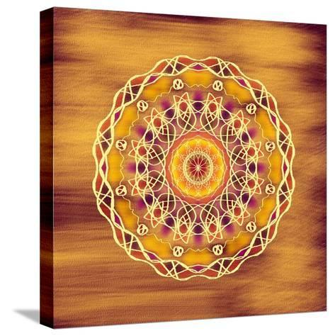 The Golden Disc-Deanna Tolliver-Stretched Canvas Print