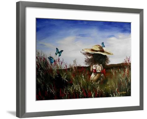 Heather with Butterflies-Cherie Roe Dirksen-Framed Art Print