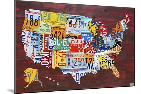 USA Map Edition 15-Design Turnpike-Mounted Giclee Print