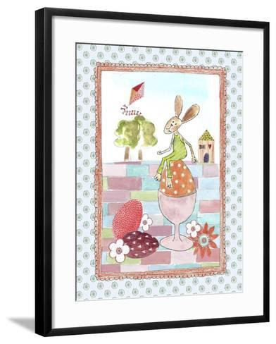 Easter Bunny on Egg-Effie Zafiropoulou-Framed Art Print