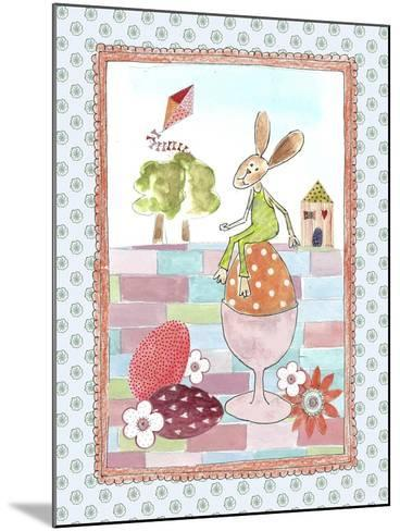 Easter Bunny on Egg-Effie Zafiropoulou-Mounted Giclee Print