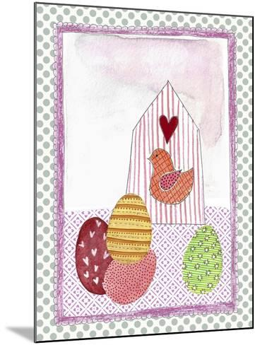 Easter Birdhouse and Eggs-Effie Zafiropoulou-Mounted Giclee Print