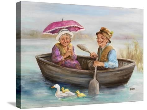 Elderly Couple-Dianne Dengel-Stretched Canvas Print