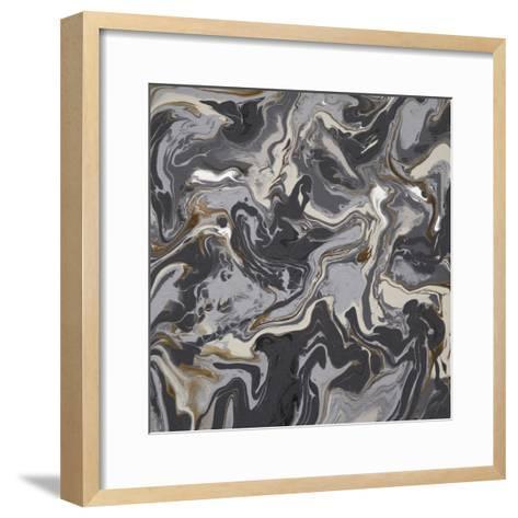 Liquid Industrial V - Canvas III-Hilary Winfield-Framed Art Print