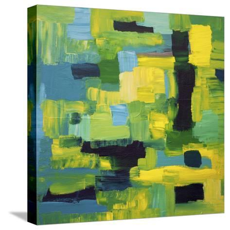 Cubic Abstract-Hilary Winfield-Stretched Canvas Print