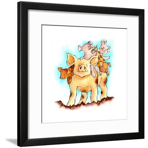 Piggy Back-Emma Graham-Framed Art Print