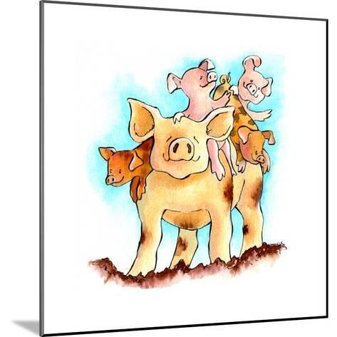 Piggy Back-Emma Graham-Mounted Giclee Print