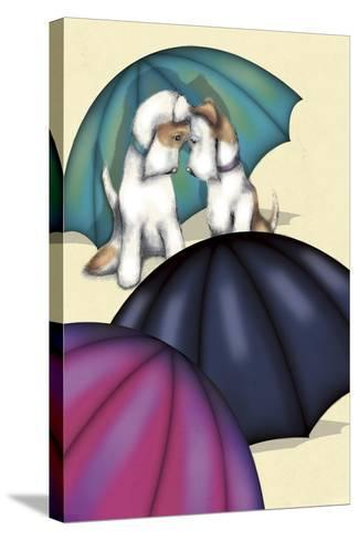 Dogs and Umbrellas-FS Studio-Stretched Canvas Print