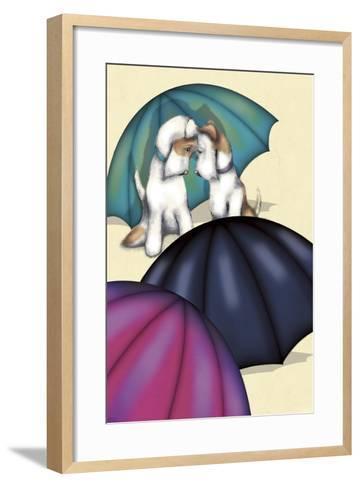 Dogs and Umbrellas-FS Studio-Framed Art Print
