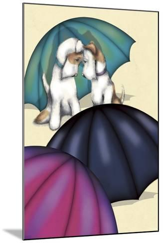 Dogs and Umbrellas-FS Studio-Mounted Giclee Print
