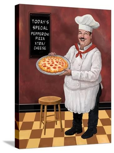 Pizza Chef Master-Frank Harris-Stretched Canvas Print